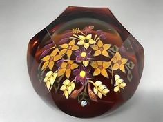 Caithness Glass Paperweight - Whitefriars Autumn Gold - Ltd Ed 27/50