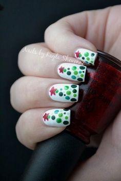 nice 30 Most Cute Christmas Nail Art Designs