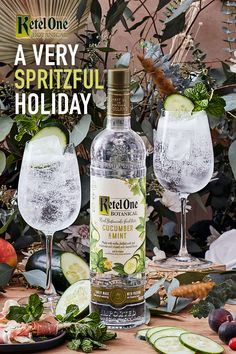 Eat, drink, and be spritzful! This holiday season, be sure to deck your bar with Ketel Botanical Cucumber & Mint. Whether you're hosting a few family members or keeping your celebration virtual, stay spritzful this holiday season. Botanical Spritz: 1.5 oz Ketel One Botanical + 3 oz Soda Bubble Drink, Pastel Goth Fashion, Fall Cocktails, Clothes Women, Fashion Clothes, Women's Fashion, Brewing, Alcoholic Drinks, Deck