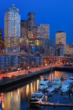 Seattle Waterfront By Night Photograph - Seattle Waterfront By Night Fine Art Print Seattle Waterfront, Seattle Skyline, Boston Skyline, Seattle City, San Diego, San Francisco, Chicago, San Antonio, Seattle Sights