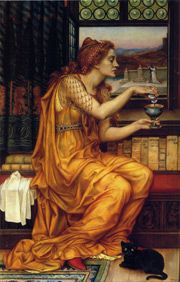 "Aqua Tofana was the creation of a Sicilian woman named Giulia Tofana, who lived and worked in Palermo in the first half of the 17th century. It was a limpid, harmless-looking liquid, a scant four to six drops of which were ""sufficient to destroy a man."" Evelyn de Morgan - the Love Potion"