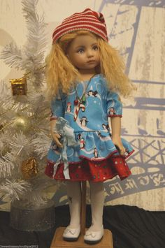 """Penguin Outfit w Necklace by 2SNSB Heather Fits Effner 13"""" Little Darling 