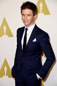 Pin for Later: Let's Face It, Award Season Was All About British People This Year Eddie Redmayne at the Academy Awards Nominee Luncheon