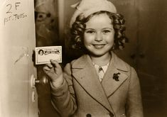 Shirley Temple celebrating the founding of her fan club, 1930s.