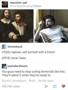 You think he'd at least try to hide it more maybe try a new hairstyle and trust me being immortal is something we try to hide Tumblr Funny, Funny Memes, Jokes, Funny Cute, The Funny, Fandoms, Lol, Just For Laughs, Funny Posts
