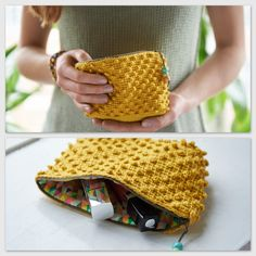 Marvelous Crochet A Shell Stitch Purse Bag Ideas. Wonderful Crochet A Shell Stitch Purse Bag Ideas. Chunky Crochet, Tunisian Crochet, Knit Crochet, Crochet Pouch, Crochet Hooks, Crochet Bags, Purse Patterns, Crochet Patterns, Crochet Baby Boots