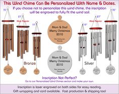 Christmas Personalized Wind Chime The Perfect Personalized Gift