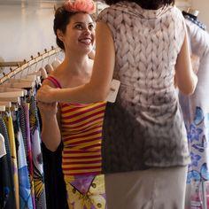 Helena Blaunstein of Frau Blau helps a fashionable client.Photo by and…