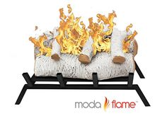 18 Inch Birch Convert to Ethanol Fireplace Log Set Grate - Wood Burning Fireplace Inserts Electric Fireplace Logs, Electric Logs, Fireplace Grate, Ethanol Fireplace, Gas Logs, Faux Fireplace, Fireplaces, Gas Log Insert, Wood Burning Fireplace Inserts
