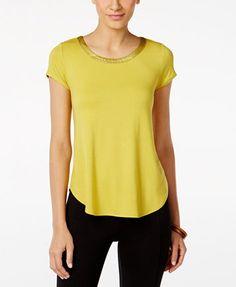 Alfani High-Low T-Shirt, Only at Macy's | macys.com