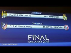Real Madrid will play Manchester City for a place in the Champions League final, and Atletico Madrid will take on Bayern Munich. Manchester City, Semifinales Champions, Real Madrid, Sports Personality, Semi Final, Psg, Sports News, Munich, Coaching