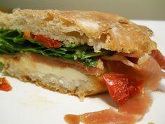 Serrano Ham, Arugula, Mozzarella, Sun dried Tomatoes on Olive Ciabatta