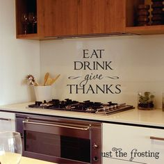 Kitchen or Dining Wall Decals  Kitchen Vinyl by JustTheFrosting, $15.00