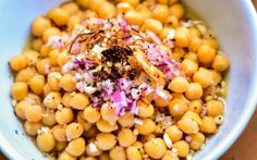 <p>While this chickpea bowl may not be something you can find in a Burmese restaurant, it is packed with Burmese condiments like fried red chili flakes, shallots, garlic, onions, and crushed peanuts. </p>