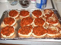 Pizza Burgers | Tasty Kitchen: A Happy Recipe Community! Pure School Cafeteria Nostalgia...