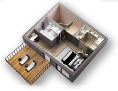 The layout of the third floor of the house