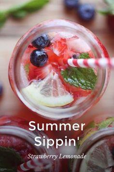 Recipe // Strawberry Lemondae // story by Michelle Moore on @stellerstories