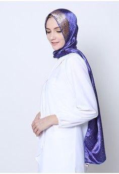Wanita > Baju Muslim > Hijab > Pashmina > Phasmina Mawakari - Blue > delarosa
