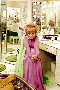 Agnes Moorhead in her dressing room