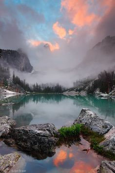 Grand Teton, sunset, clouds, Wyoming, Tetons by Jack Brauer