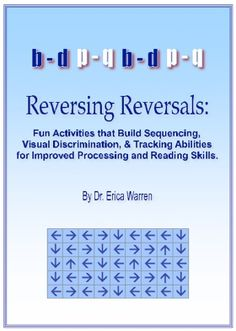 Letter/Number Reversal Activity! And great resource book to help with letter/number reversals