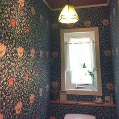 junさんの、ドライフラワー,照明,ウィリアムモリスの壁紙,バス/トイレ,のお部屋写真