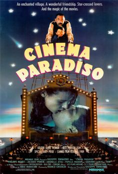 """Nuovo cinema paradiso [Cinema Paradiso] - Giuseppe Tornatore 1988 - DVD00258 -- """"A young boy in a small Italian village is befriended by the projectionist at the movie theater. As he grows up, he learns to love films & is encouraged by his friend to pursue his dream of making movies."""""""