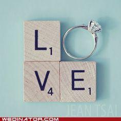 Scrabble love.