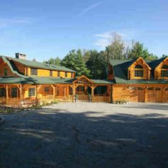 Log Cabin Home with attached garage