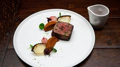 Fillet of Beef, Pumpkin Puree, Charred Onions and Red Wine Reductionundefined