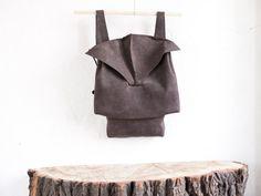 #Leather #backpack #dark #brown #leather #circumambulation #dark #minimal #design #CircumambulationBags