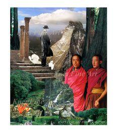 Collage Art Tintín en el Tibet #Tintín#Printable#Instant download #surrealism #pop art https://www.etsy.com/es/shop/KnetFineArt