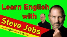 Today you are going to learn English with Steve Jobs: You watch his commencement speech with English subtitles and I'll explain important vocabulary and idioms. Steve Jobs Speech, Learning English, Idioms, Vocabulary, Watch, Clock, Bracelet Watch, Clocks, Vocabulary Words