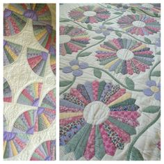 My girls quilts, fresh from the laundry line.- Laundry Basket Quilts