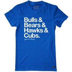 ♥ Chicago Teams. They had it perfect til they put Cubs on there...