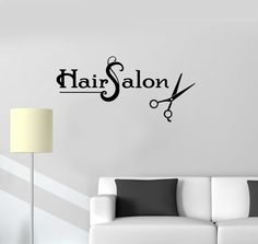 Vinyl Wall Decal Hair Salon Scissors Barbershop Stylist Stickers Mural (ig3336) #Wallstickers4you #VinylArt