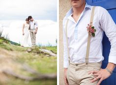 Cute take on the buttonhole Look Vintage, D Day, Groom And Groomsmen, Handmade Wedding, Suspenders, Wedding Trends, Coachella, Marie, Pin Up