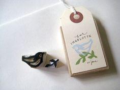 cute hand-carved stamp by jone of http://polkadotponie.blogspot.com/