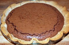 Easy Chocolate Fudge Pie | But once you cut into the pie, you'll see where the deliciousness is ...