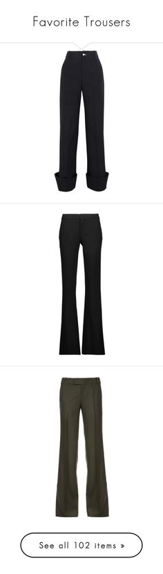 """Favorite Trousers"" by jacci0528 ❤ liked on Polyvore featuring pants, bottoms, trousers, navy, high-waisted pants, high-waisted wide leg pants, navy pants, wide leg trousers, high waisted pants and black"