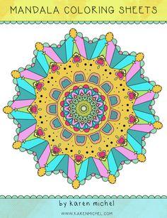 Mandala Coloring Sheets Download by karen michel