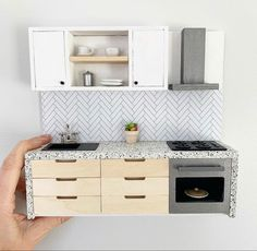 Wallpaper for Hacks & Dollhouses Ikea Dollhouse, Modern Dollhouse, Dollhouse Dolls, Victorian Dollhouse, Mini Doll House, Barbie Doll House, Doll House Kitchen, Miniature Kitchen, Miniature Houses