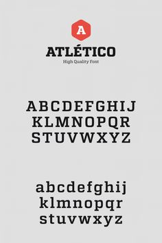 Atletico, a high quality font family from Stereotypes.