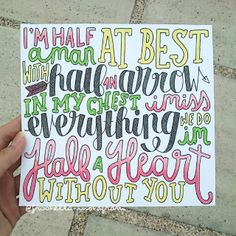 Half a Heart- One Direction
