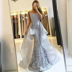 Mermaid Lace Prom Dress modest mermaid prom dresses, unique lace evening gowns P2907