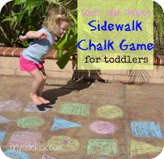 7 Fun Sidewalk Chalk Games for Toddlers #play #games #kids