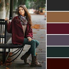 most current photos autumn color palette fashion crafts me : Start building the color scheme! Think you're lying down away pieces for your upcoming afghan or even quilt? Colour Combinations Fashion, Color Combinations For Clothes, Fashion Colours, Colorful Fashion, Color Combos, Deep Autumn Color Palette, Burgundy Colour Palette, Mode Ab 50, Warm Autumn