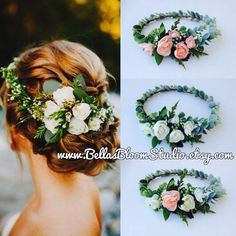 Succulent Crown Greenery Crown Eucalyptus crown Adult flower crown Cream Flower crown Succulent Succulent Bridal Halo Etsy by BellasBloomStudio on Etsy
