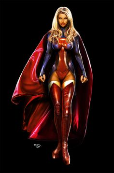 supergirl in her new costume 5 hours or so Dc Comics Girls, Dc Comics Art, Comic Book Girl, Comic Book Heroes, Hq Marvel, Marvel Dc Comics, Supergirl Comic, Hq Dc, Superman Art