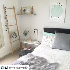 #Repost @myhomestyle89 with @repostapp.  Love the simplicity of the styling in this room. This is a space you'd want to spend time in. The leather strap shelf is a bit lovely also #styleinspo #instalike #bedroomgoals #instastyle #bedroomstyling #bedroomdecor #interiorstyling #instagood by style_inspo_au